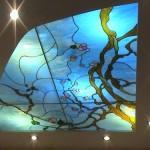 Витражный потолок сакура
